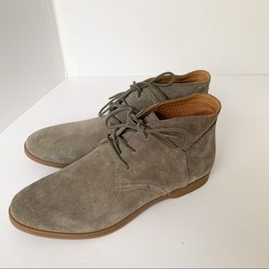 Franco Sarto Percy Ankle Boots Suede Beige Size 10